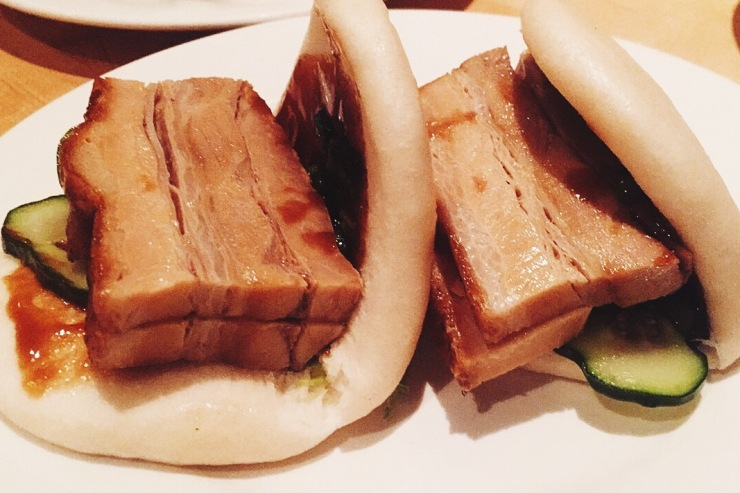 Pork buns from Momofoku Noodle Bar in NYC
