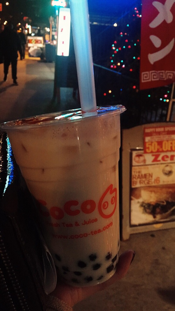 Jasmine milk tea from CoCo in NYC