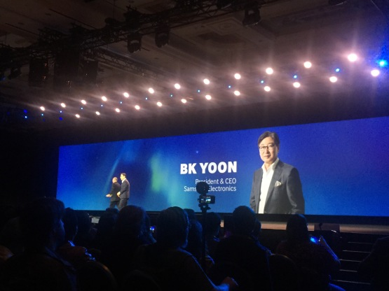 Samsung's BK Yoon takes the stage for his keynote