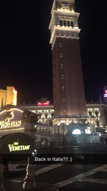 Walking along the Vegas strip