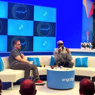 50 Cent at Engadget booth #CES2015