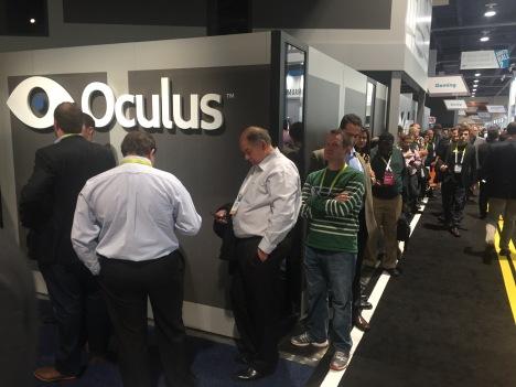 Oculus rift line at #CES2015