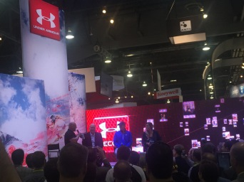 Cal Ripken Jr. at Under Armour booth at #CES2015