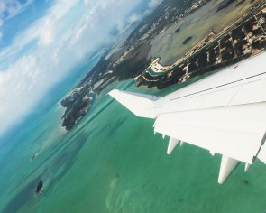 Flying in to the Bahamas