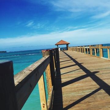 Nassau beach boardwalk