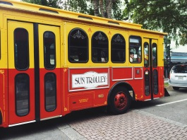 Trolly at Fort Lauderdale, FL.