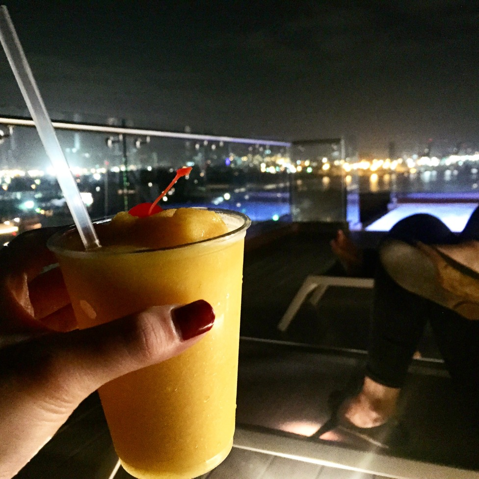 Free drinks at rooftop bar at Ciqala Luxury Suites in San Juan, Puerto Rico