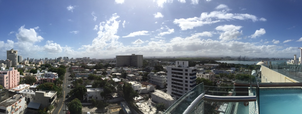 Rooftop view of Puerto Rico from Ciqala