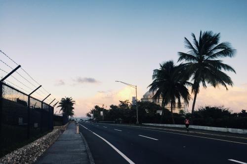 Beautiful sunset while walking toward Condado beach