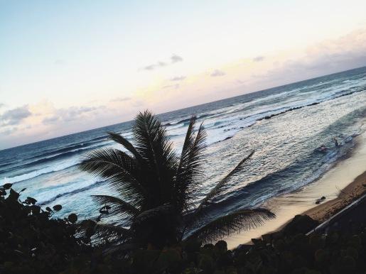 Beautiful sunset at Condado beach