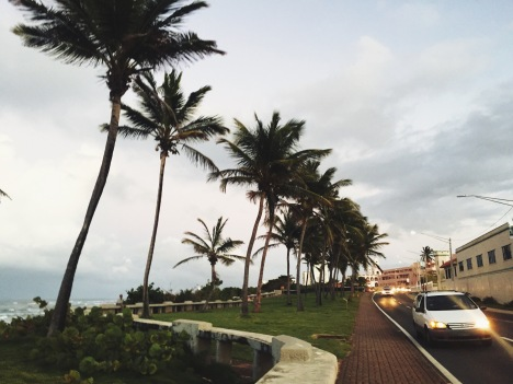 Walking next to Condado beach