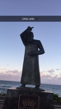 Hilarious statue at Condado beach