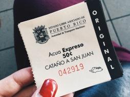 Acua Espresso ferry ticket to Cantano from San Juan