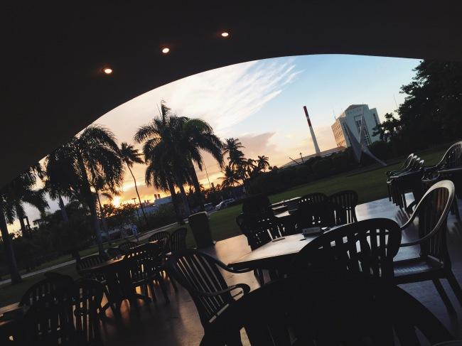 Sunset from Bacardi bar
