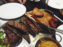 Meat platter at Vaca Brava restaurant in Old San Juan