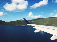 Breathtaking view arriving on Jetblue at St. Thomas