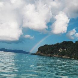 Rainbow at Trunk Bay Beach in St. John