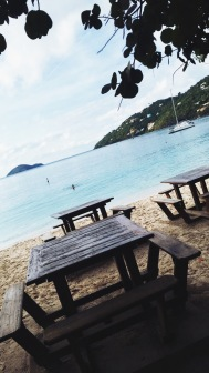 Amazing view from Magens Bay Beach bar
