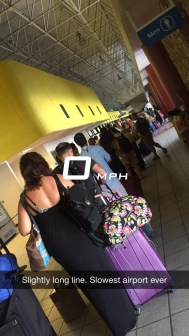 Annoyingly ridiculous, long lines at STT