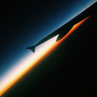 Sunset airplane wing #ART