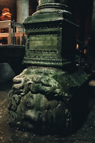 Medusa's head at Basilica Cistern