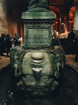 Medusa's head at Basilica Cistern