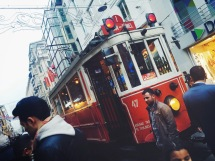 Old street cars still run in Istanbul