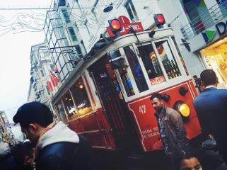 Old street cars still run in Istanbul