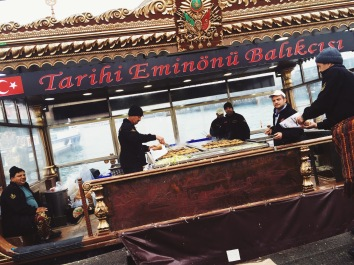 Balık-ekmek fresh fish sandwich Istanbul