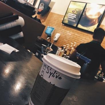 Soy chai latte at Starbucks Istanbul