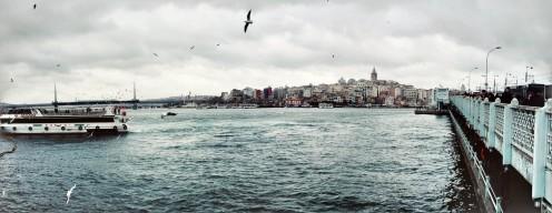 Panorama of Galata Bridge, Istanbul