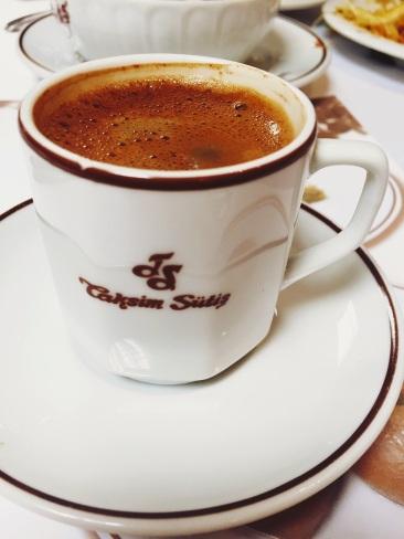 Turkish coffee at Sutis