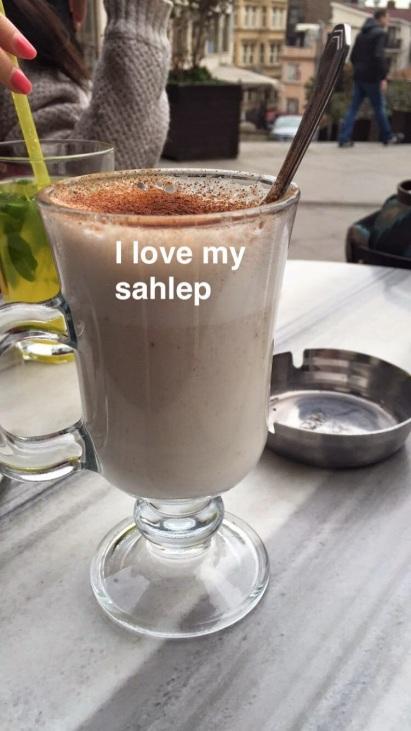 Sahlep at Guney Restaurant