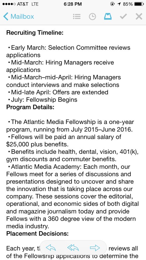 Atlantic Media Fellowship email