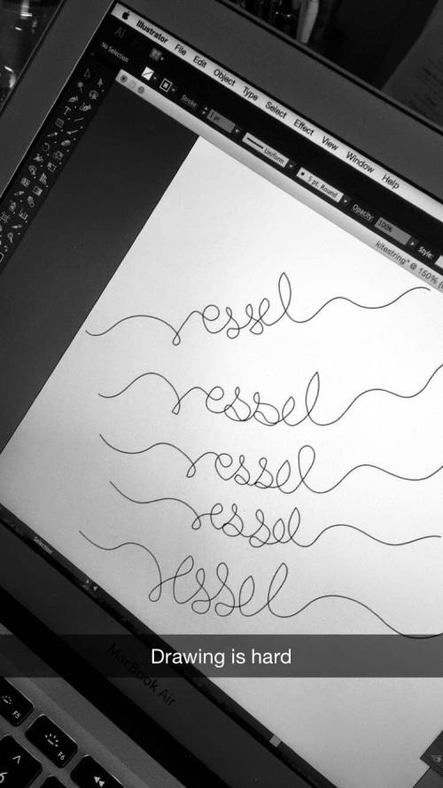 Illustrating on Illustrator