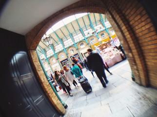 Entering Jubilee Market in London