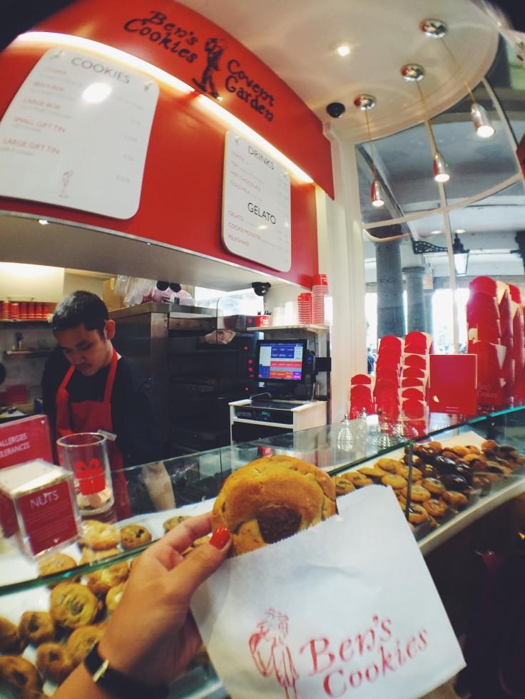Ben's Cookies at Jubilee Market London