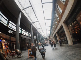 Entering Spitalfields Arts Market in London