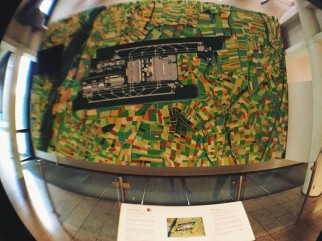 Map of the Munich Airport at the Deutsches Museum
