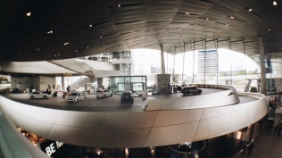 Test drive area at BMW Welt Munich