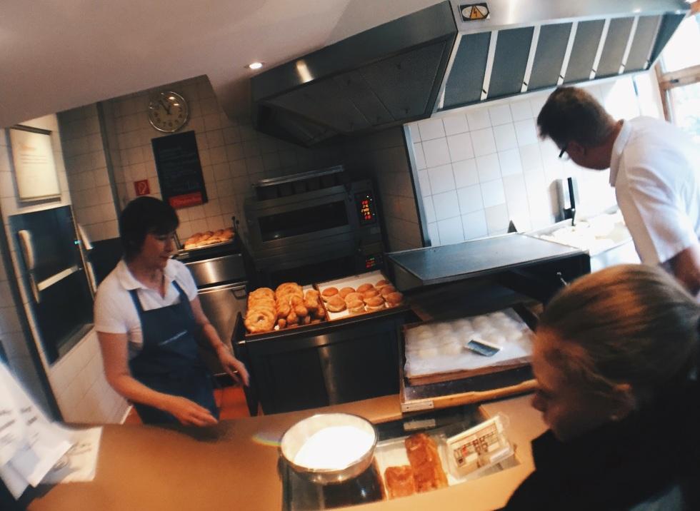 Freshly made schmalznudl at Café Frischhut
