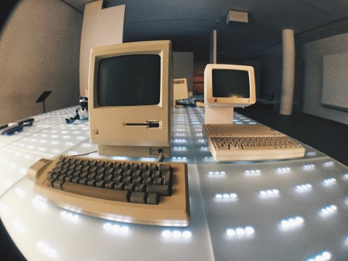 Vintage Apple computers at Pinakothek der Moderne Munich