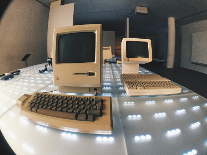 Vintage Apple computers at Pinakothek der Moderne Munich