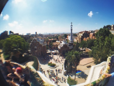 Beautiful view of Parc Guell
