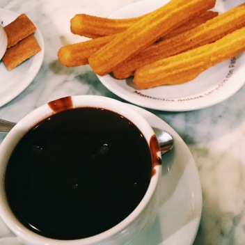 Churros and chocolate in Barcelona