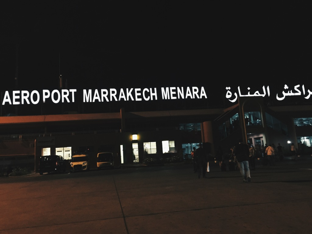 Arrival at Marrakech airport