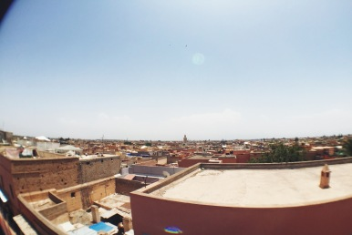 Rooftop view of Marrakech