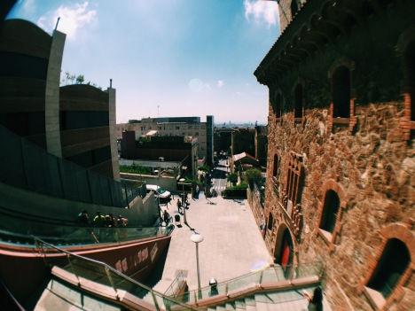 Walking down from Parc Guell