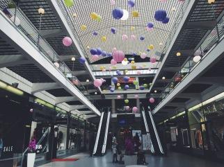 Empty Prague shopping center
