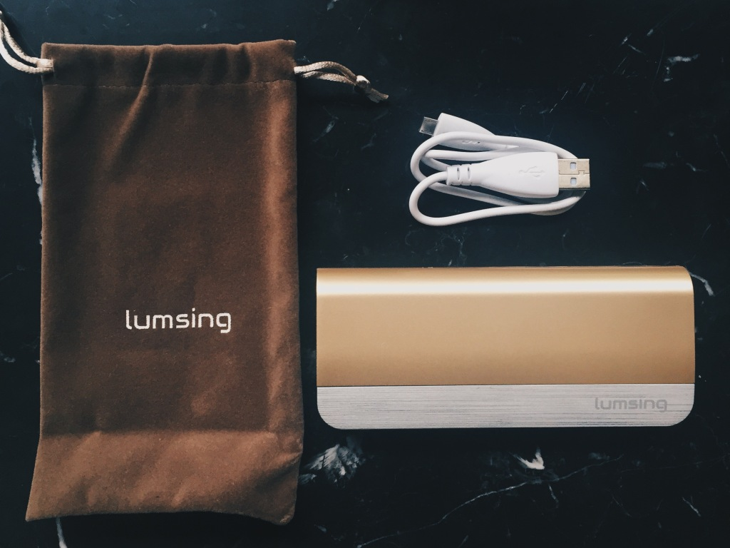 Lumsing power bank in champagne